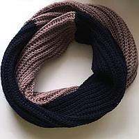 Вязаный шарф снуд хомут 100 % шерсть