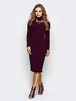 Стильне бордове трикотажне плаття Teribor (S-M, M-L)