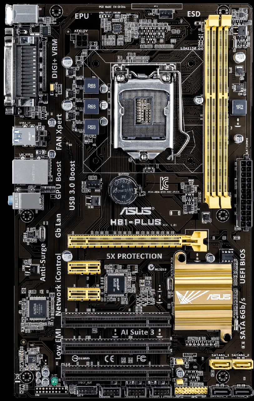 "Материнская плата ASUS H81-PLUS s.1150 DDR3 ""Over-Stock"""