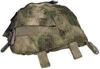 Чехол на каску с карманами регулируемый HDT зелёный камуфляж MFH 10501E