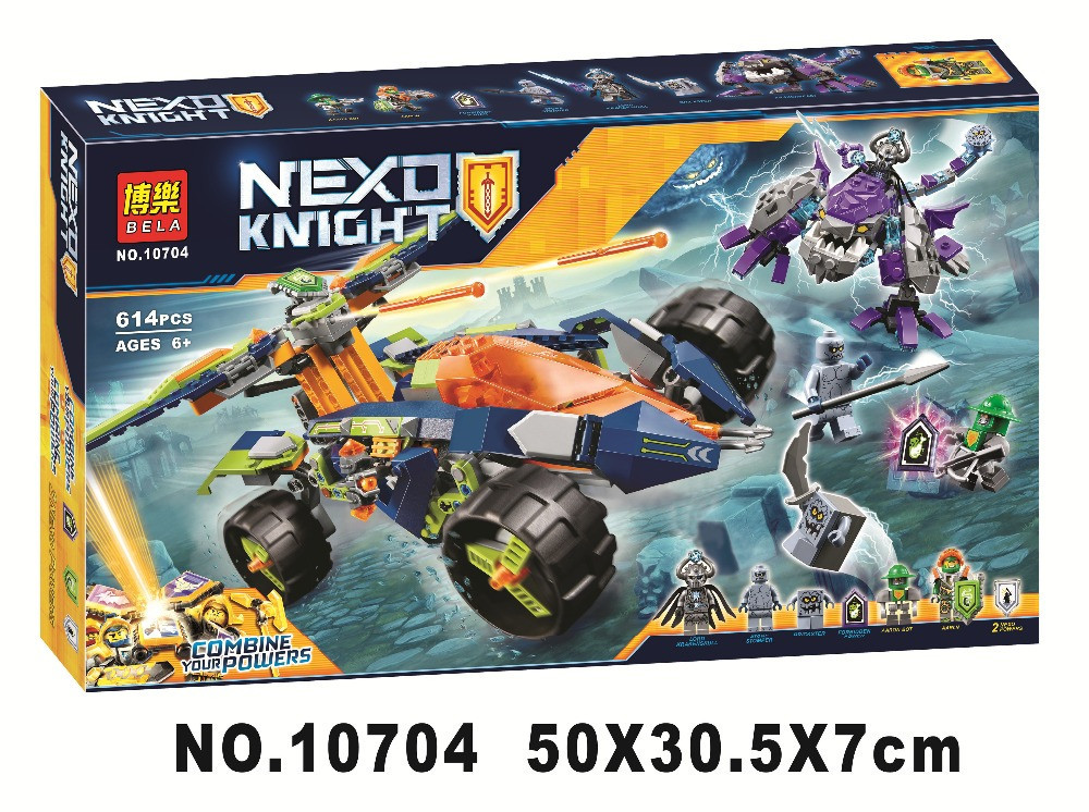 "Конструктор Nexo Knights Bela 10704 ""Всюдихід Аарона 4x4"" - 614 деталей. Аналог Lego 70355"