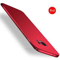 Чохол Samsung Galaxy S7 червоний пластик софтач, фото 1