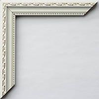Рамка А2 42х60  ширина багета 2,4 см белая с золотом
