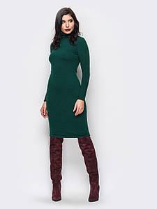 (S-M, M-L) Стильне темно-зелене трикотажне плаття Teribor