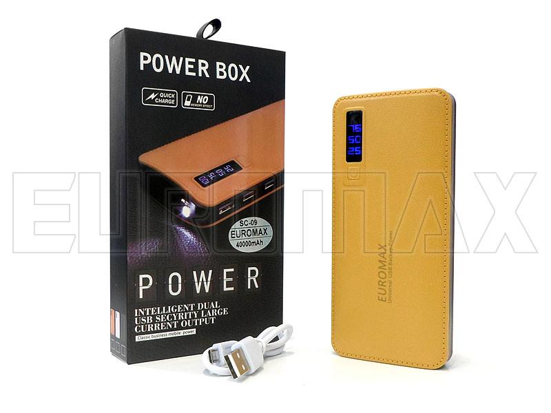 Внешний аккумулятор (power bank) EUROMAX 40000мАч (6000мАч) SC-09