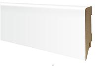 Плинтус МДФ белый матовый 100х19 мм, шт