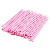 Палочки для кейк-попсов и леденцов Розовые (50 шт)