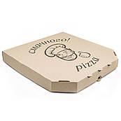 Упаковка для пиццы крафт с рисунком  300*300*33мм