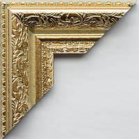 Рамка А2 42х60  ширина багета 5,8 см светлое золото