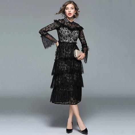 Платье гипюр на подкладке, фото 2