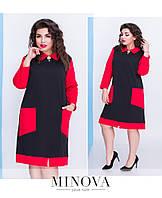 Платье женское  батал от ТМ Minova Размеры: 50,52,54,56,58