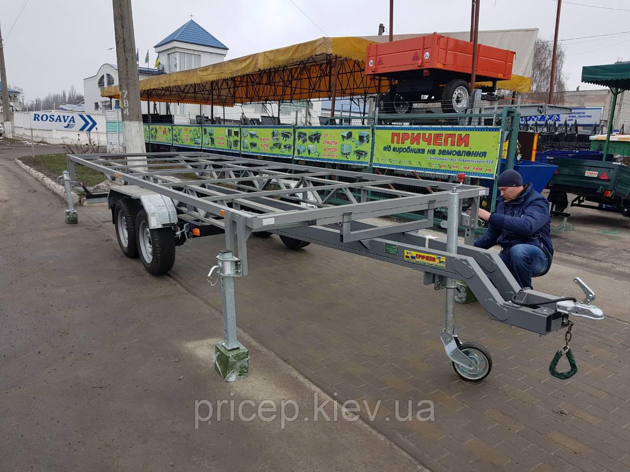 Прицеп 6м х 2м для перевозки пасеки, листового металла, металлического профиля, бруса.
