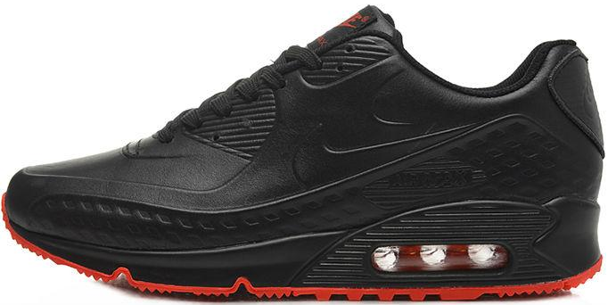 nike air max 90 first leather black red