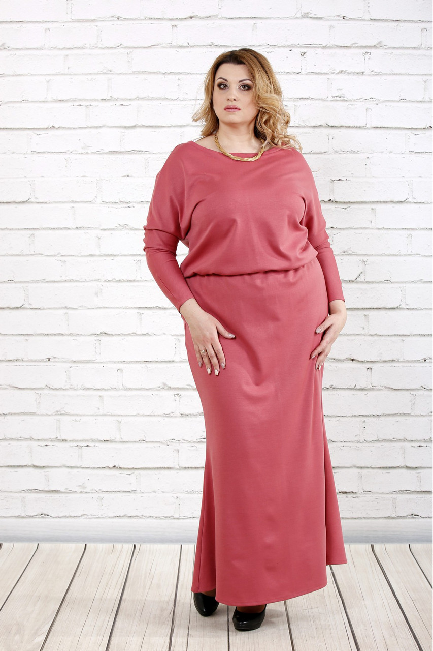 d381d3774dae Длинное платье для полных женщин 0720 фрезия