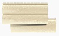 Сайдинг Виниловый Блок-Хаус двухпереломный Бежевый 3,1*0,32 м.(BlockHouse), фото 1
