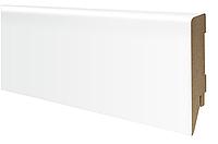 Плинтус МДФ белый матовый 80х16 мм, шт