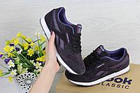Жіночі кросівки Reebok Classic (фіолетові), ТОП-репліка, фото 1