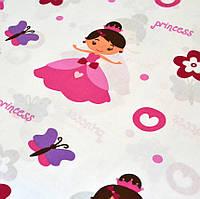 """Хлопок 50х40 см """"Принцессы с бабочками и цветочками"""", фото 1"""