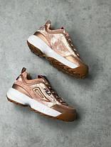 Женские кроссовки в стиле FILA Disruptor Pink Gold Velvet (39, 40 размеры), фото 2