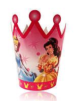 """Корона картонная детская """"Принцессы Дисней"""", 10 шт/уп"""