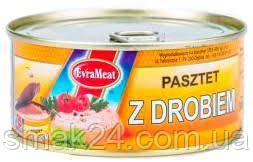 Паштет EvraMeat  z Drobiem (курино-свинной) Польша 300г