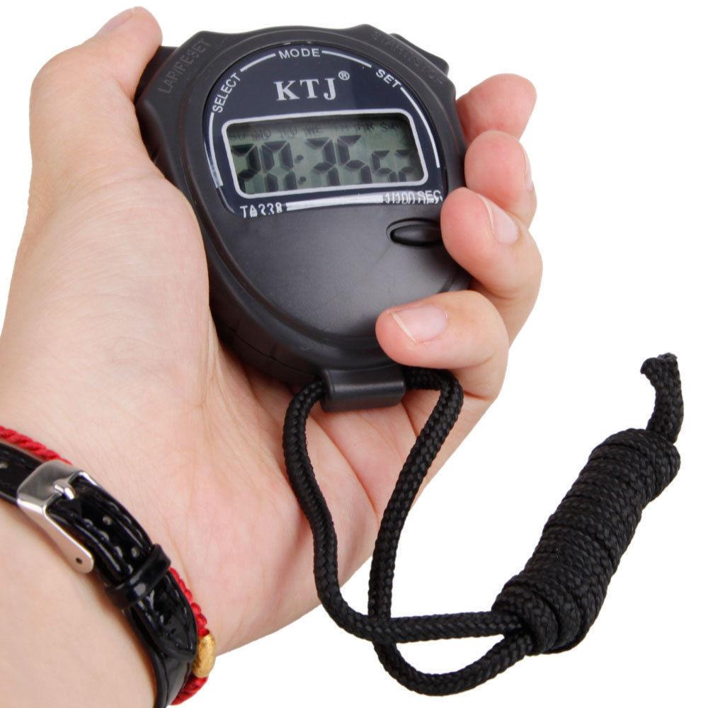 Спортивный цифровой секундомер TA228 с ЖК дисплеем