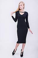 Платье женское стильное  черное по фигуре
