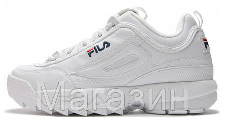 Женские кроссовки Fila Disruptor II White Фила Дисраптор 2 белые, фото 2