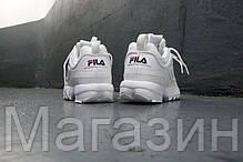 Женские кроссовки Fila Disruptor II White Фила Дисраптор 2 белые, фото 3