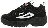Женские кроссовки Fila Disruptor II Black (Фила Дисраптор 2) черные