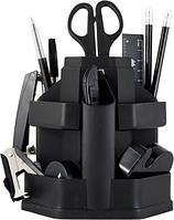 Набор настольный пластиковый, 16 предметов, черный, Jobmax