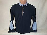 Мужской тонкий свитер с налокотниками Piazza Italia
