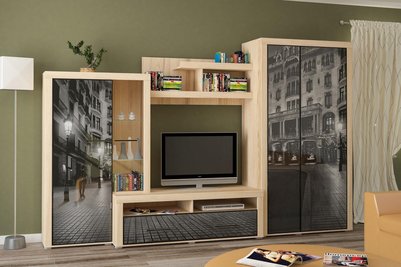 Стінка для вітальні (стенка, гостиная) Неон-2 Мебель Сервіс