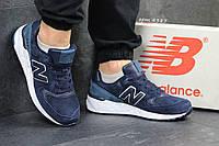 Замшевые мужские кроссовки 4387 синий