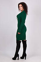 Вязаное платье миди по фигуре Риана бутылка, фото 2