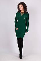 Вязаное платье миди по фигуре Риана бутылка, фото 3