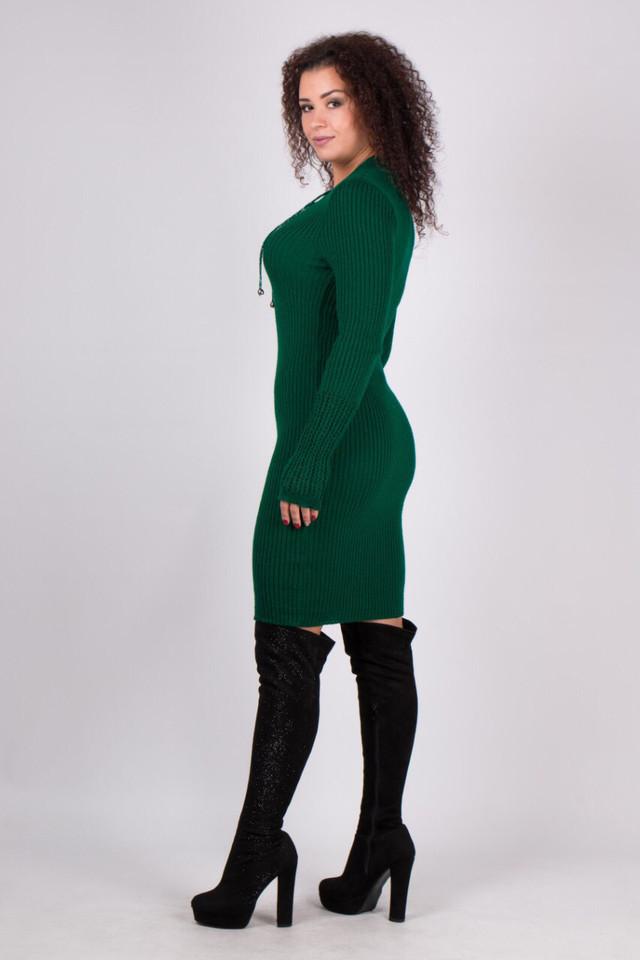 Вязаное платье миди по фигуре Риана бутылка