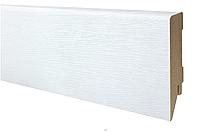 Плинтус МДФ белый структурный 100х19 мм, шт