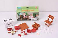 Набор мебели Кухня для флоксовых животных Happy Family 012-04B (аналог Sylvanian Families)