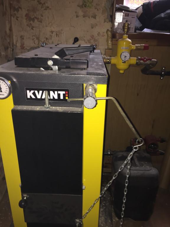 Установка котла KVANT SL 12 и группы безопасности KVANT