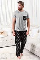 Домашний мужской костюм-пижама S M L XL XXL