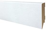 Плинтус МДФ белый структурный 80х19 мм, шт