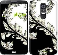 "Чехол на LG G2 White and black 1 ""2805c-37"""