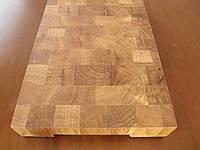 Кухонная торцевая разделочная доска с вырезом для тарелки 40х25х5 см из дуба С40х25