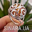 Срібний перстень з натуральним бурштином, фото 4