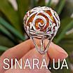 Срібний перстень з натуральним бурштином, фото 3