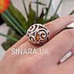 Срібний перстень з натуральним бурштином, фото 5