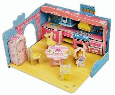 Набор для творчества 3D пазл - Кухня маленькой хозяюшки