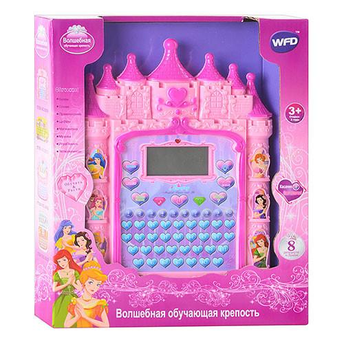 Обучающий планшет Розовый Замок (слова, цифры, игры)