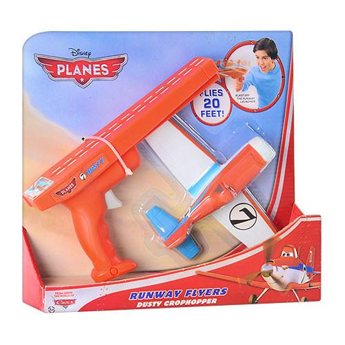 Самолет на запуске с пусковым пистолетом